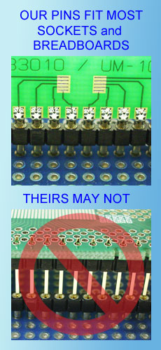 SMT adapter pins fit most socket types
